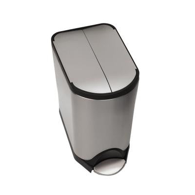 20 l Fingerprint-Proof Brushed Stainless Steel Butterfly Open Step-On Trash Can