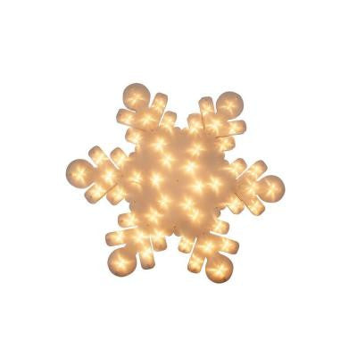 23 in. Snowflake Indoor Hanging Decor with 48 Miniature Lights