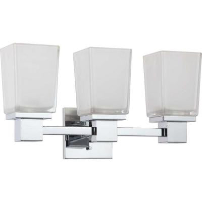 Belisana 3-Light Polished Chrome Bath Vanity Light