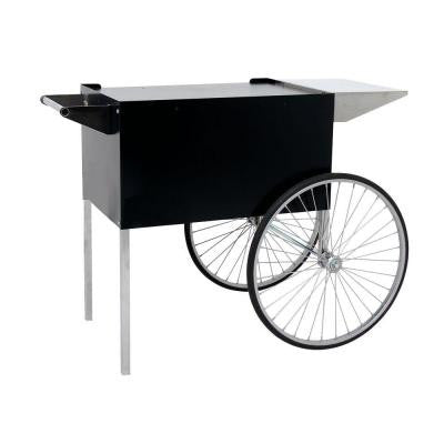 Professional Large Popcorn Cart in Black