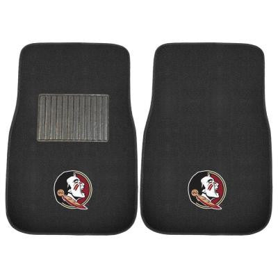 NCAA Florida State University 2-Piece 17 in. x 25.5 in. Carpet Embroidered Car Mat