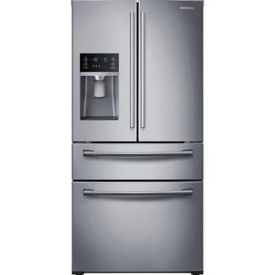 29.7 cu. ft. 4-Door French Door Refrigerator in Stainless Steel, Counter Depth