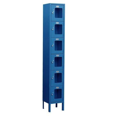 S-66000 Series 12 in. W x 78 in. H x 18 in. D 6-Tier Box Style See-Through Metal Locker Unassembled in Blue