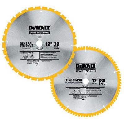 12 in. Circular Saw Blade Assortment (2-Pack)