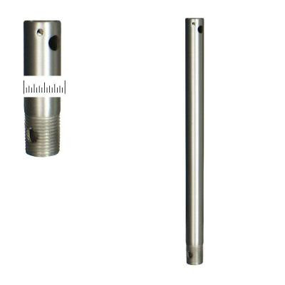 12 in. Satin Steel Extension Downrod