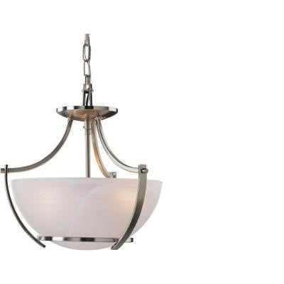 Lenor 3-Light Brushed Nickel Incandescent Ceiling Chandelier