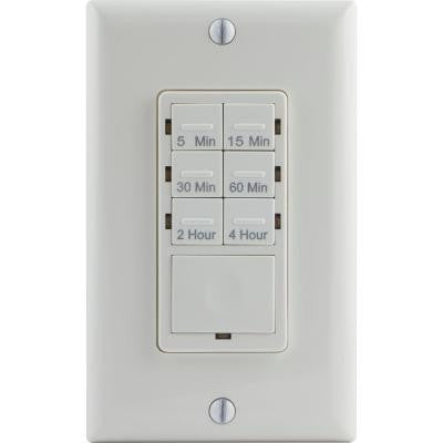 6.4-Amp 4-Hour In-Wall Digital Countdown Timer with No Neutral Wire (CFL and LED)