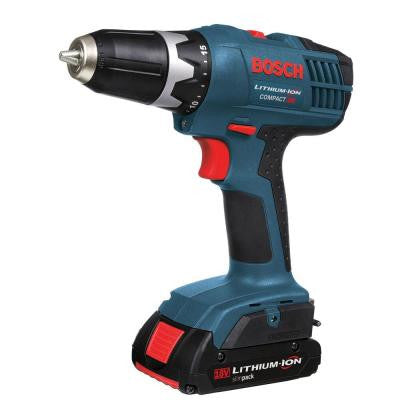 18-Volt Factory Reconditioned Lithium-Ion Compact 3/8 in. Cordless Drill Driver Kit