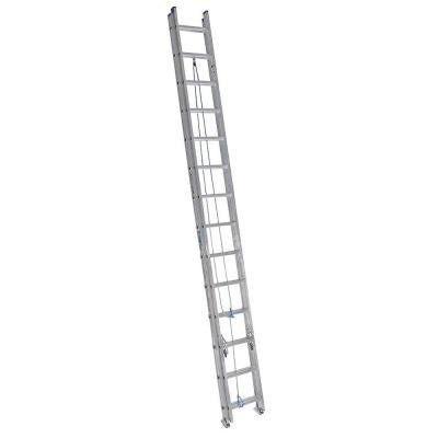 28 ft. Aluminum Extension Ladder with 250 lb. Load Capacity Type I Duty Rating