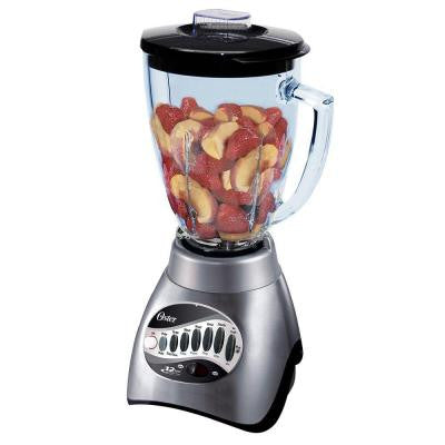 12-Speed Blender with 6-Cup Plastic Jar in Brushed Nickel