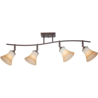 Duchess 4-Light Bronze Track Lighting