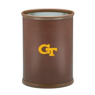 13 in. Georgia Tech Football Texture Trash Can