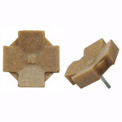 Contempo Clove Noce Travertine 1-1/5 in. x 1-1/5 in. Mosaic Medallion Pin Insert Wall Tile (4-Pack )