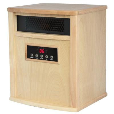 Titanium 1500-Watt Infrared Electric Portable Heater with built in UV-C Air Purifier - Oak