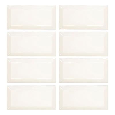 Royal Cream Beveled 3 in. x 6 in. x 8 mm Ceramic Wall Tile