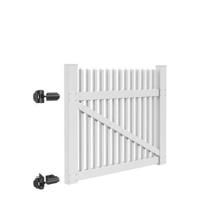 Ottawa Straight 5 ft. x 4 ft. White Vinyl Un-Assembled Fence Gate