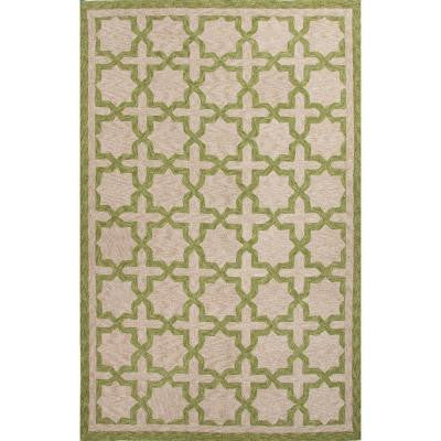 Malibu Piquant Green 3 ft. x 5 ft. Moroccan Area Rug