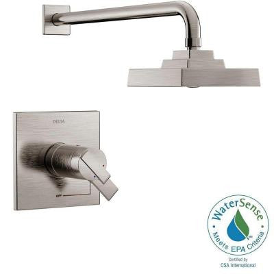 Ara TempAssure 17T Series 1-Handle Shower Faucet Trim Kit Only in Stainless (Valve Not Included)