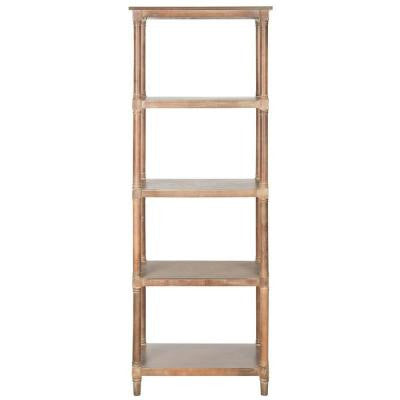 Odessa 4-Shelf Bookcase in Washed Natural Pine
