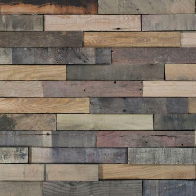 Deco Planks Picket Fence Sun Baked 1/2 in. x 2 in. Wide x 12 in. Length Solid Hardwood Wall Planks (10 sq. ft. / case)