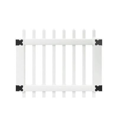 3.5 ft. x 3 ft. White Vinyl Chelsea Spaced Picket Fence Gate