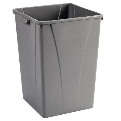 Centurian 35 Gal. Gray Square Trash Can (4-Pack)