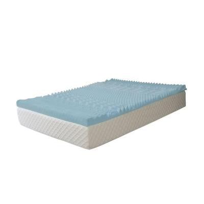 Twin-Size 3 in. Gel Memory Foam 7-Zone Mattress Topper