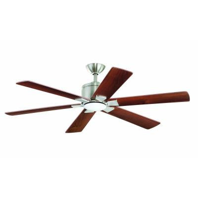 Renwick 54 in. Brushed Nickel Ceiling Fan
