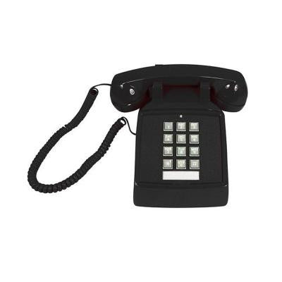 Desk Corded Telephone with Volume Control - Black