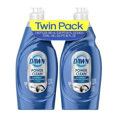 Ultra Power Clean 20 oz. Refreshing Rain Dishwashing Liquid (Twin Pack)