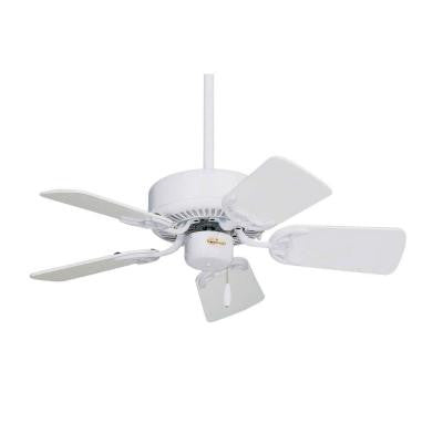Zephyr 29 in. Appliance White Indoor Non-Lit Ceiling Fan