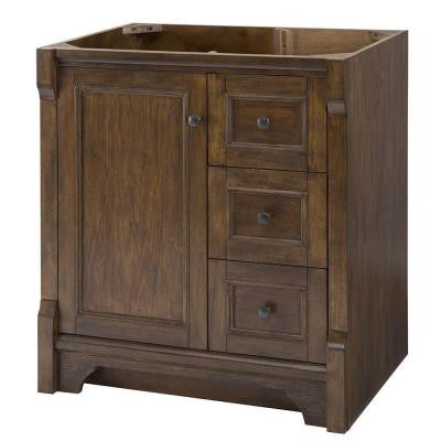 Creedmoor 36 in. W x 34 in. H Vanity Cabinet Only in Walnut with Right Hand Drawers