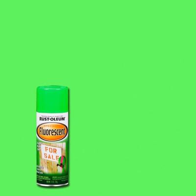 11 oz. Green Fluorescent Spray Paint (Case of 6)