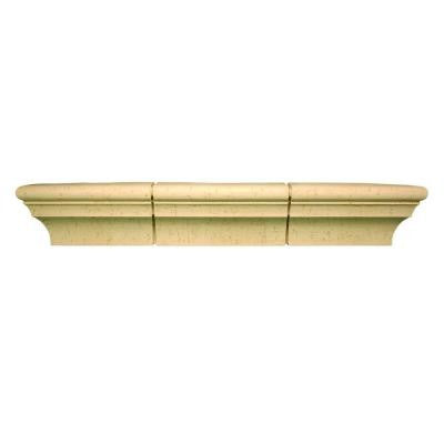 52-1/8 in. x 13-7/16 in. x 10-5/16 in. Polyurethane Stone Texture 13 in. Pot Shelf