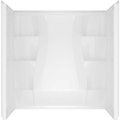 Classic 400 Curve 29.875 in. x 59.88 in. x 61.51 in. 3-Piece Direct-to-Stud Tub Surround in High Gloss White