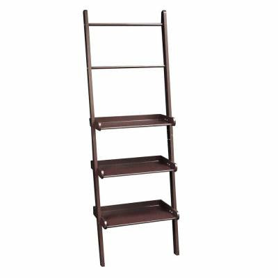 20 in. W Ladder Shelf in Espresso