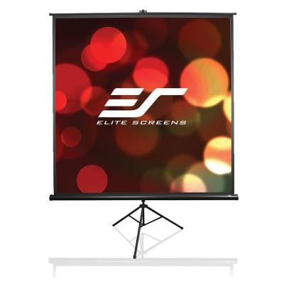 72 in. H x 96 in. W Manual Tripod Portable Projection Screen with Black Case