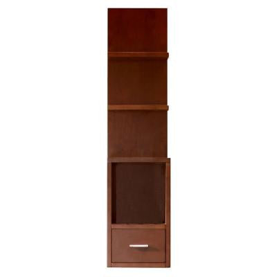 Vero 11 in. W x 9.8 in. D x 46.5 in. H Wall Mounted Linen Cabinet in Chocolate