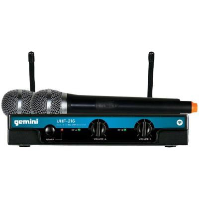 Dual-Channel Wireless Microphone System with 2 Handheld Transmitters
