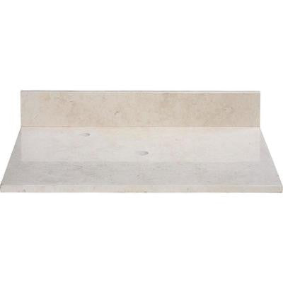 25 in. Marble Vanity Top in Galala Beige without Basin
