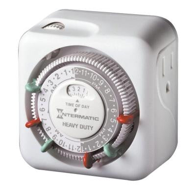 15-Amp Heavy Duty Indoor Plug-In Dial Timer