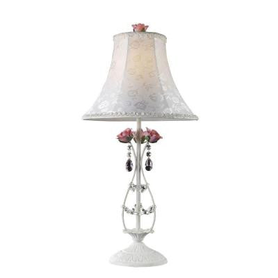 Rosavita 28 in. Antique White Table Lamp with Shade
