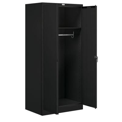 9100 Series 78 in. H x 24 in. D Wardrobe Storage Cabinet Assembled in Black