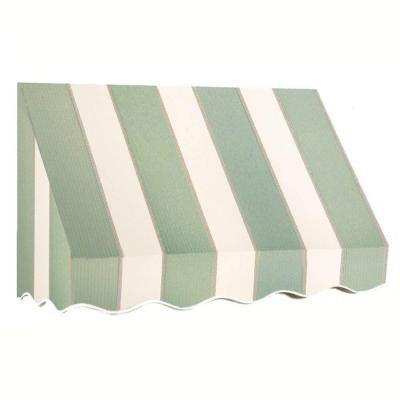30 ft. San Francisco Window/Entry Awning (44 in. H x 48 in. D) in Sage/Linen/Cream Stripe