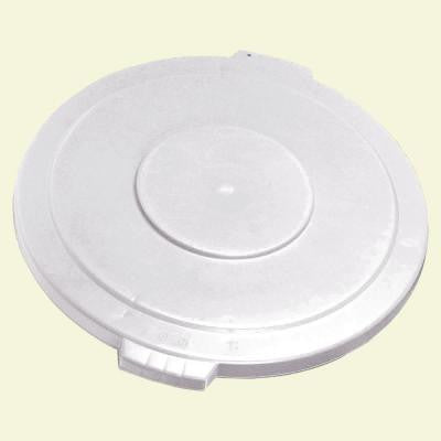 Bronco 44 Gal. White Round Trash Can Lid (3-Pack)