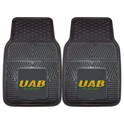 NCAA University of Alabama at Birmingham Heavy Duty 2-Piece 18 in. x 27 in. Vinyl Car Mat
