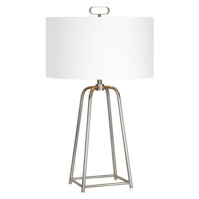 Bodice 28 in. Satin Nickel Table Lamp