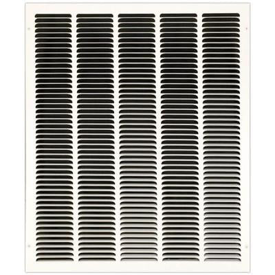 20 in. x 25 in. Return Air Vent Filter Grille with Fixed Blades, White