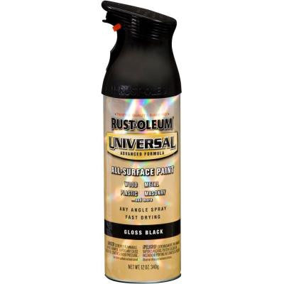 12 oz. All Surface Gloss Black Spray Paint and Primer in One (6-Pack)