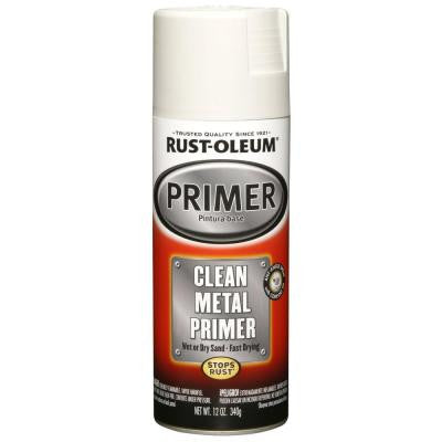 12 oz. White Clean Metal Primer Spray (6-Pack)